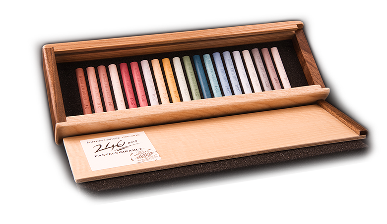 Exquisite wooden box, numbered limited edition - Pastels Girault