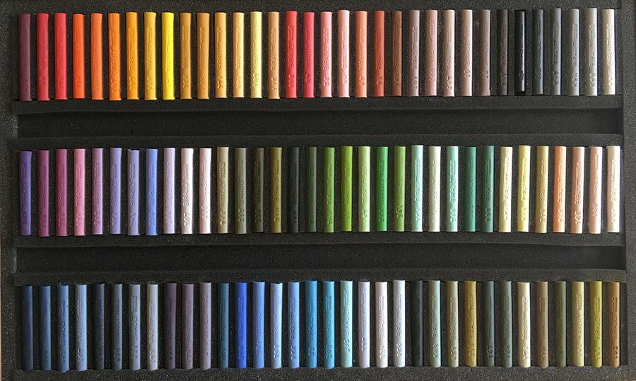 Claude TEXIER - Coffret 102 pastels