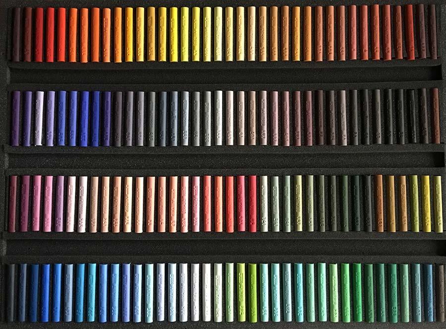 Claude TEXIER - Coffret de 152 pastels