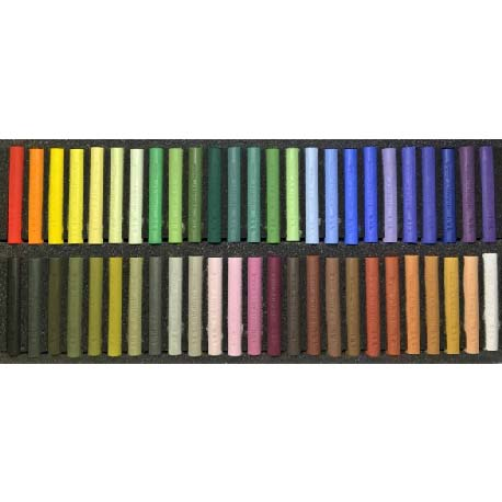 Etuis cartonnés de 50 pastels assortis Sélection Michel BORDAS