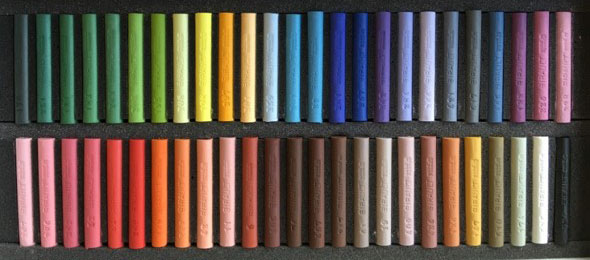 50 pastels assortis Sélection CHRIS