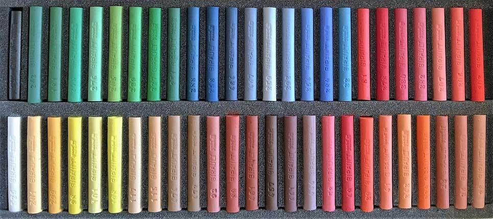 50 pastels assortis MIXTE