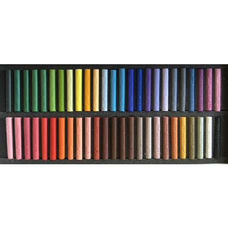 Etuis cartonnés de 50 pastels assortis Sélection CHRIS