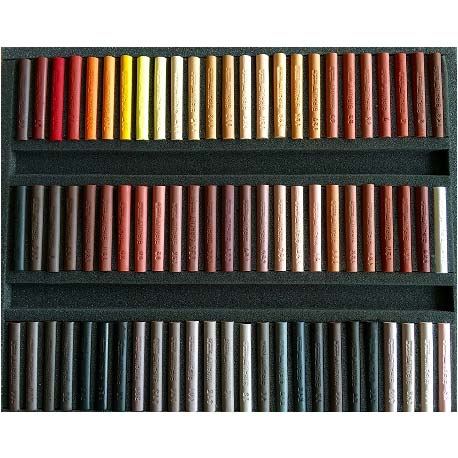 Arrangement Wooden box of  75 sticks  PARIETAL ART
