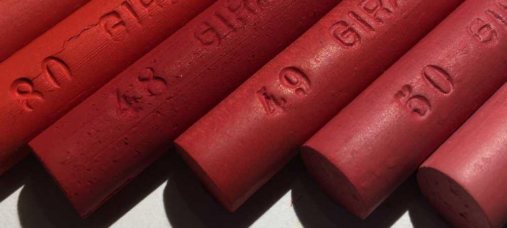 Bâtonnets pastels rouges