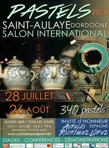 Affiche Salon du pastel de St Aulaye