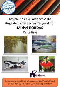 Stage de pastel Michel Bordas Octobre 2018