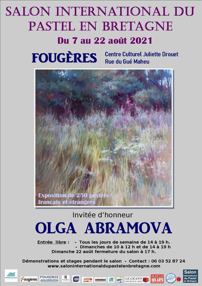 Affiche Fougères 2021, nous serons présents les 07 et 08 aout