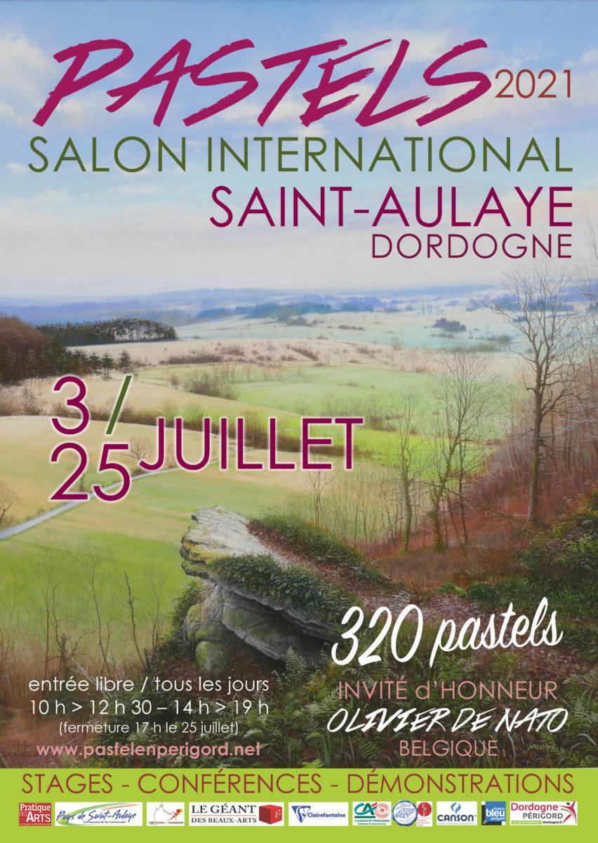Affiche St Aulaye 2021, nous serons présents le 03 juillet